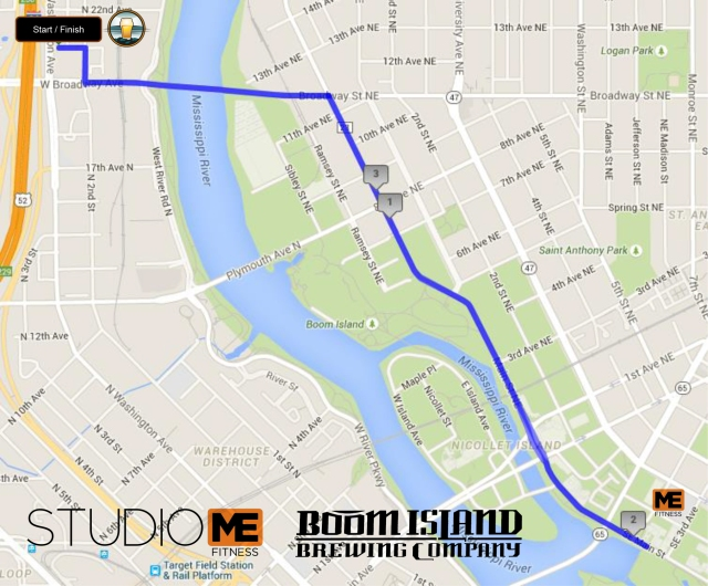 This is the route runner's will take for the event.