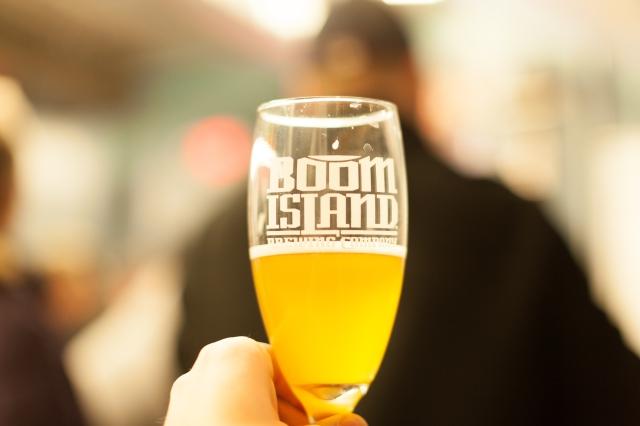 Beer in glass long